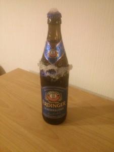 Flasche Erdinger Alkoholfrei