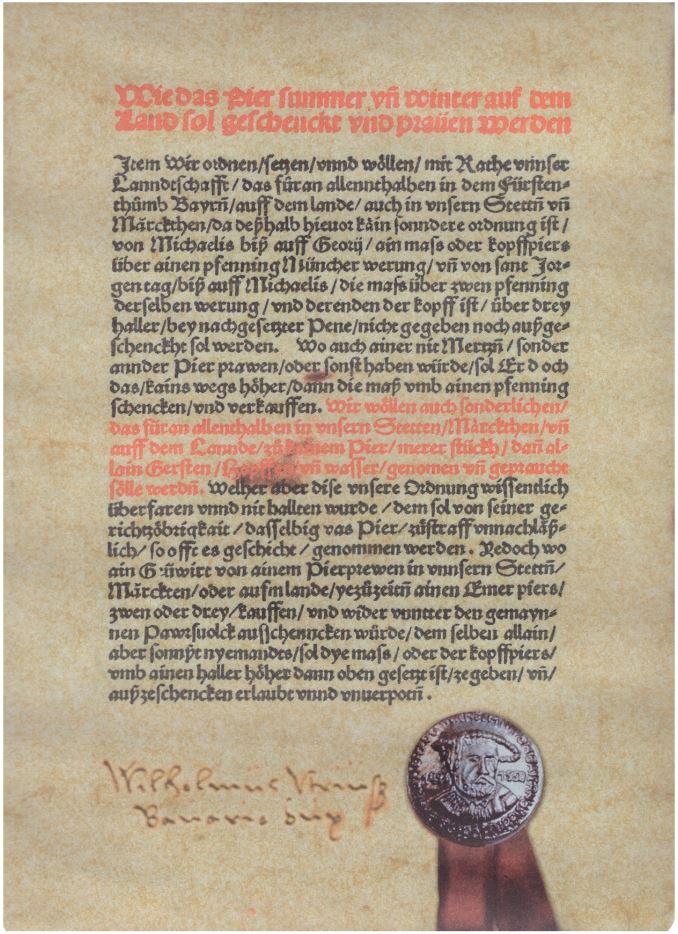 Urkunde Reinheitsgebot 23-04-1516_II